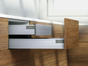 Blum. Pre-Built TANDEMBOX plus BLUMOTION Inner drawer, height M (96.5 mm), 30 kg, NL=500 mm. R9006 white aluminium.